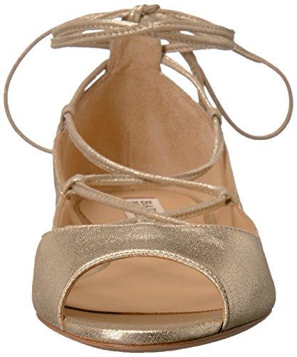 Ballet Mischka Badgley Flat Platino Women's Bloom Fzx7p