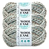 Lion Brand Yarn 640-542-3 Yarn, 3-Packs, Seaglass, 3 Pack (Color: Seaglass, Tamaño: 3-Packs)