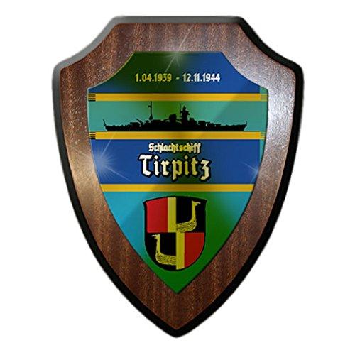 Battleship Tirpitz 3 German Navy class Wilhelmshaven ship crew badge pension - Escutcheon / Wall Sign -