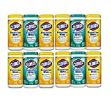 Clorox Disinfecting Wipes Value Pack, Fresh Scent and Citrus Blend DohRgN, 4Pack (225 Count)
