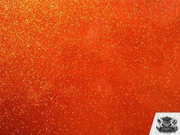 Amazon Com Vinyl Sparkle Orange Solar Storm Fake Leather Upholstery