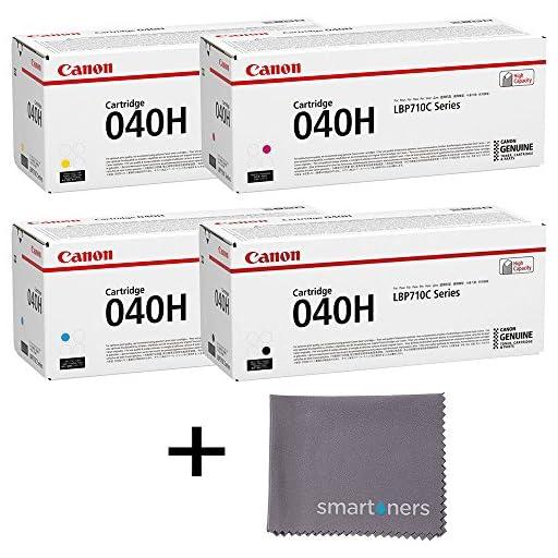 Canon CRG-040H High Yield Toner Set w/ micro smartoners cloth
