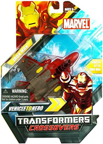 (Marvel Transformers Crossovers - Fighter Jet to Iron Man, Red Costume)