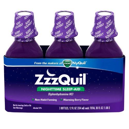 Vicks ZzzQuil sommeil nocturne-Aid, Berry Flavor - 12 fl. oz - 3 pk.