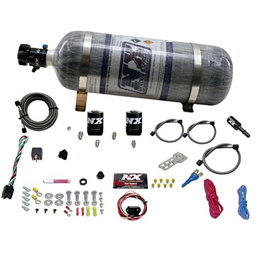 Nozzle System Single (Nitrous Express 20932-12 35-150 HP Single Nozzle System with 12 lbs. Composite Bottle for Ford 5.0 Coyote Engine)