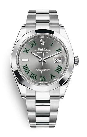 Rolex Datejust 41 mm 126300 Stainless Steel Oyster Bracelet Roman Numeral  Men\u0027s Watch