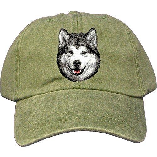 Alaskan Malamute Dog Breed - Cherrybrook Dog Breed Embroidered Adams Cotton Twill Caps - Spruce - Alaskan Malamute