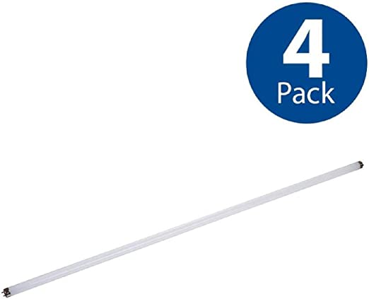 Amazon Com Utilitech 4 Pack 32 W Equivalent Cool White T8 Led Tube Light Bulbs 852826 Home Improvement