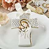 36 Madonna and Child Hanging Cross Ornaments
