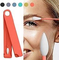 Tampone di cotone riutilizzabile Q-Tip di LastSwab riutilizzabile in cotone per la pulizia degli occhi e delle orecchie con custodia resistente MOGOI