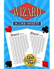 Wizard Score Sheets: Wizard Scorebook | Score Pads | Wizard Scorekeeping Book | Wizard Scorecards | Score Keeper Notebook Scrabble Score Cards | Wizard Card Game Score Sheet