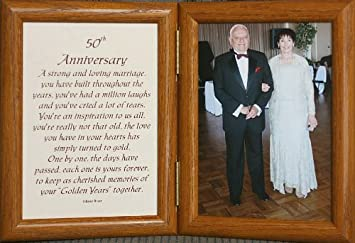 Amazoncom 5x7 50th Anniversary Poem Double Hinged Picture Photo
