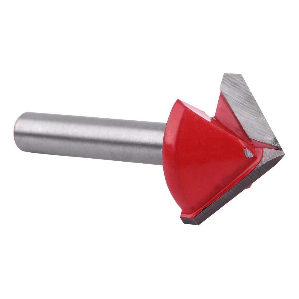 1-teiliger Fr/äserfr/äser Wolframstahl Holzbearbeitung CNC-Fr/äser Bitsch/ärfe V-Nut-Schneidwerkzeug 6-mm-Hartmetall-Fasen-Kegelfr/äser 6 * 22mm*90/°