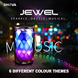 Bluetooth Speakers, SHAVA Jewel Portable Wireless Speaker with 6 LED Visual Light Modes and Built-in Microphone Supports Hands-free Phone Call for iPhone 7 Plus Samsung Tablets PC and More