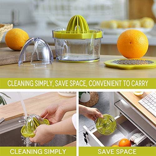 Asy 4 in 1 Exprimidor Manual,Exprimidor Manual De Limón,Robusto Y Resistente,para Jugo De Limón, Jugo De Naranja, Jugo De Manzana