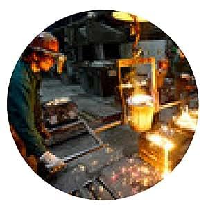 alfombrilla de ratón Industriearbeiter de empleados de la industria de la fundición GIESSEREI // - ronda - 20cm