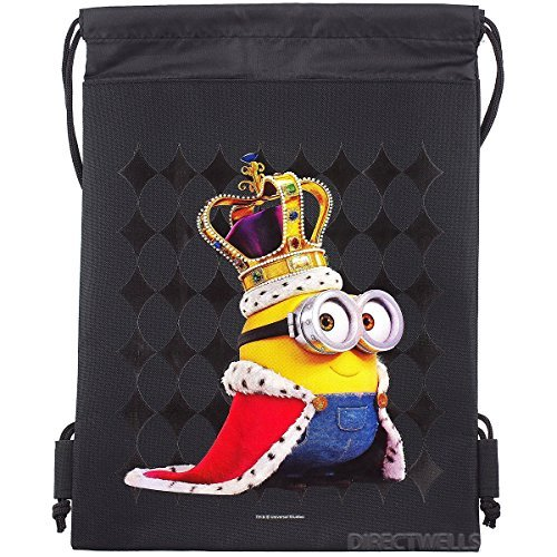 Despicable Me Minions Authentic Licensed Drawstring Bag Backpack (Child Universal Studios)