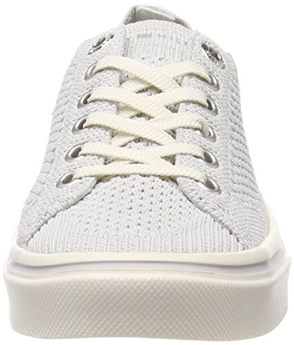 100 Tommy Weight Damen Lace Light White Knitted Hilfiger Weiß Sneaker Up ggqCBU1w