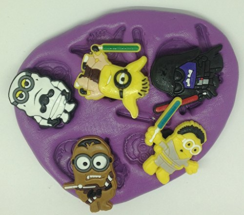 Minions Star wars silicone mould / mold. characters. topper. cupcake. r2d2. c3po.