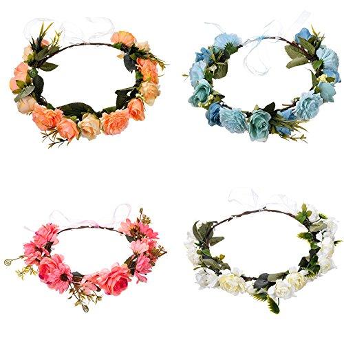 Meisjes Bridal Kleurrijke Bloem Hoofdbanden Hoofdtooi Krans Haaraccessoires Voor Vrouwen Bloemen Haarband Fijne Guirlande Hoofddeksels