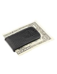Insten Genuine Leather Magnetic Money Clip , Black
