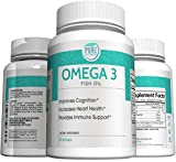 Pure Nutrinex Omega 3 Fish Oil Supplement (Burpless), 60 Count