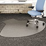 SuperMat Frequent Use Chair Mat, Medium Pile Carpet, Straight,60x66 w/Lip, Clear, Sold as 1 Each