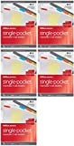 Office Depot® Brand Single- Pocket Insertable 5 Pocket Dividers With Tabs, 9 1/8'' x 11 1/4'', Assorted Colors (5 pack)