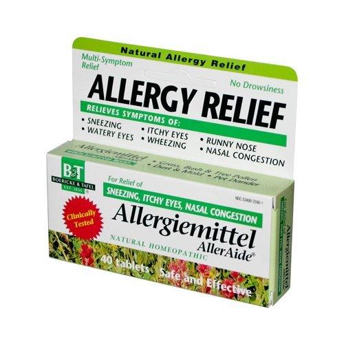 Alleraide 40 Tabs - Pack of 5 x Boericke and Tafel Allergiemittel AllerAide - 40 Tablets by Boericke & Tafel