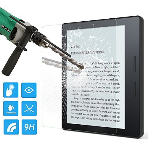 MoKo Screen Protector for Kindle Oasis,  Premium HD Clear 9H