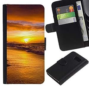 All Phone Most Case / Oferta Especial Cáscara Funda de cuero Monedero Cubierta de proteccion Caso / Wallet Case for Sony Xperia Z3 Compact // Sunset Sea Beautiful Nature 18