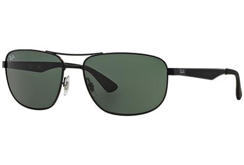 e77bda66d30 Amazon.com  Ray-Ban 3528 006 71 Matte Black 3528 Square Aviator Sunglasses  Lens Category 3  Clothing