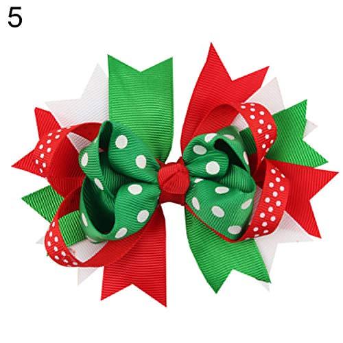 Lilac Cummerbund (dezirZJjx Christmas Style Hairpin, Kids Girls Lovely Bowknot Christmas Style Hair Clip Hairpin Headwear Accessories - 5#)