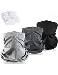 Cooling Neck Gaiter Bandanas Scarf with Safety Carbon Filters, Sport Outdoor Protective Equipment, 13 Pack Both Men and Women Kids …