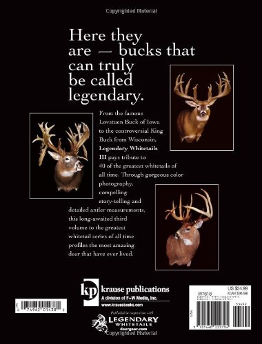 3df76b89873d2 Legendary Whitetails III: Stories and Photos of 40 More of the Greatest  Bucks of All Time: Duncan Dobie: 0074962014382: Amazon.com: Books