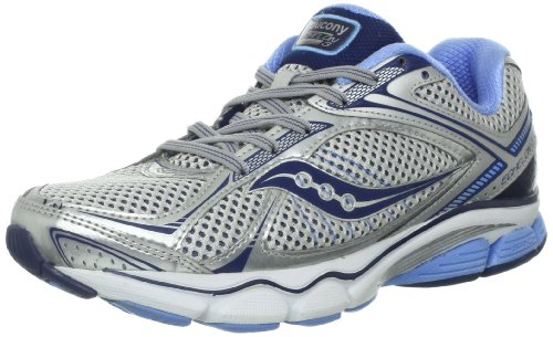 Saucony Women's Echelon 3 Running Shoe,Silver/Blue,5 M US
