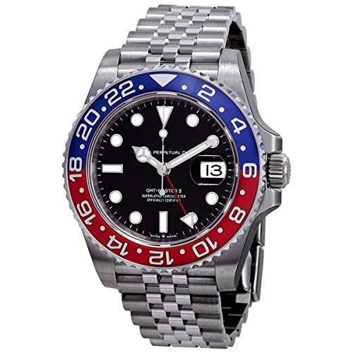 Luxury Brand Character 126710blro Gent GMT II Automatic Watch Stainless Steel Diving Blue Red Master Men's Watch ()