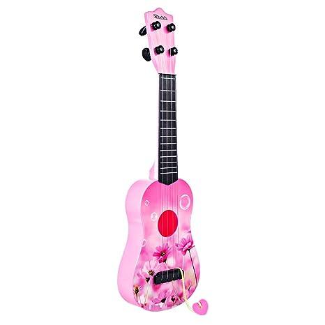 "MRKE Ukelele Principiante Guitarra Niño 17"" 4 Cuerdas Juguete de Instrumentos Musicales Guitarra Principiantes Regalo"