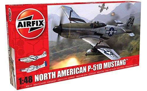 Airfix North American P51-D Mustang Plastic Model Kit 147 pieces