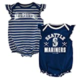 MLB Seattle Mariners Infant Girls 2pk Creeper-18 Months, Athletic Navy