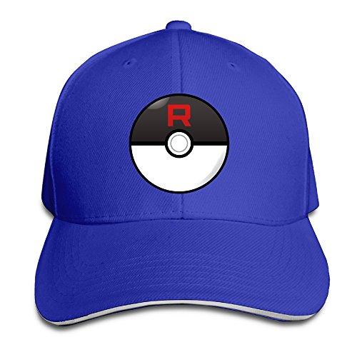 MARC Custom Team Rocket Unisex-Adult Sun Cap Hat RoyalBlue