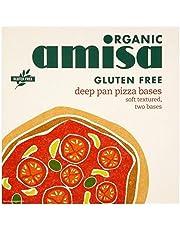 Amisa Bases De Pizza Sartén Profunda Sin Gluten Orgánica 2 X 130g (Paquete de 2)