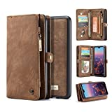 Huawei P20 Pro Wallet Case,Huawei P20 Pro Leather Wallet Case Flip Magnetic Detachable Case,Premium Cowhide Leather Purse Phone Cover with Flip Card Slots for Huawei P20 Pro (Huawei P20 Pro, Brown)