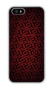 Custom Minimalistic Pattern Red Love Crystal Clear Enamel Hard Back Cover Case for iPhone 4/4s