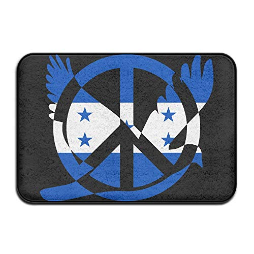 Honduras Flag Peace Sign Symbol Indoor Outdoor Entrance Rug Non Slip Car Floor Mats Doormat Rugs Home by HONMAt-Non