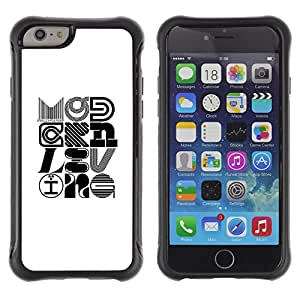Suave TPU GEL Carcasa Funda Silicona Blando Estuche Caso de protección (para) Apple Iphone 6 PLUS 5.5 / CECELL Phone case / / Pop Art Modern Design Calligraphy /