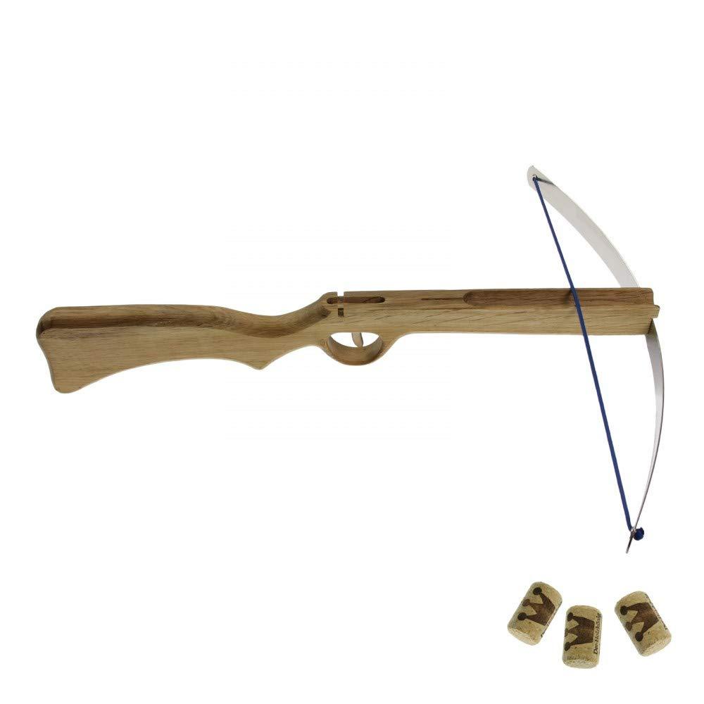 Kinderarmbrust Holzarmbrus Spielzeugarmbrust Holzkö nig Korkenarmbrust mit Federstahlbü gel Holzkönig