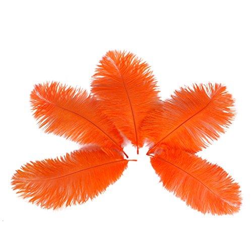 Wionya 50pcs Ostrich Feather Craft 6-8inch(15-20cm) Plume for Wedding Centerpieces Home (Orange Ostrich)