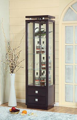 11453 Smart Home Atlantis Bar Wine Cabinet (Wine Curio Cabinet)