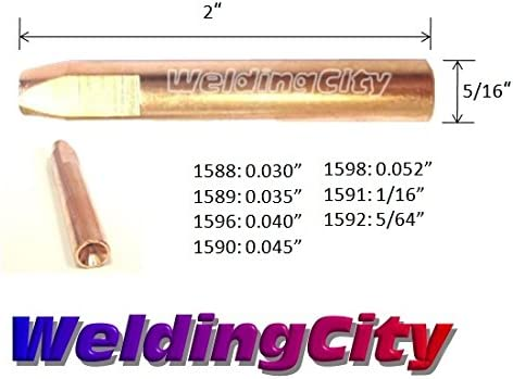 WeldingCity Gas Nozzle 4592 9//16 Copper for Bernard Q//S 400-600A MIG Welding Guns